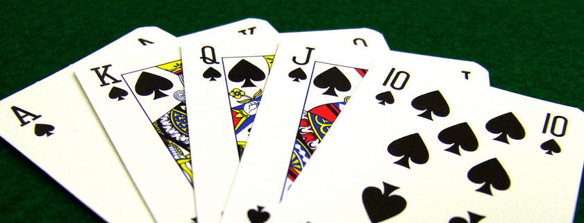 the list of card games with examples how to play them