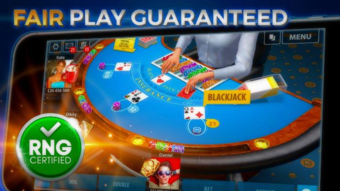 Blackjack online for fun with friends or with other players play online